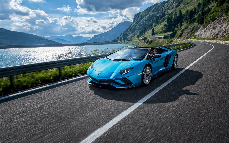 Lamborghini Aventador S Roadster Aqua Supercar Cars Road Clouds Lamborghini Aventador Lamborghini Aventador Wallpaper Racing Car Design