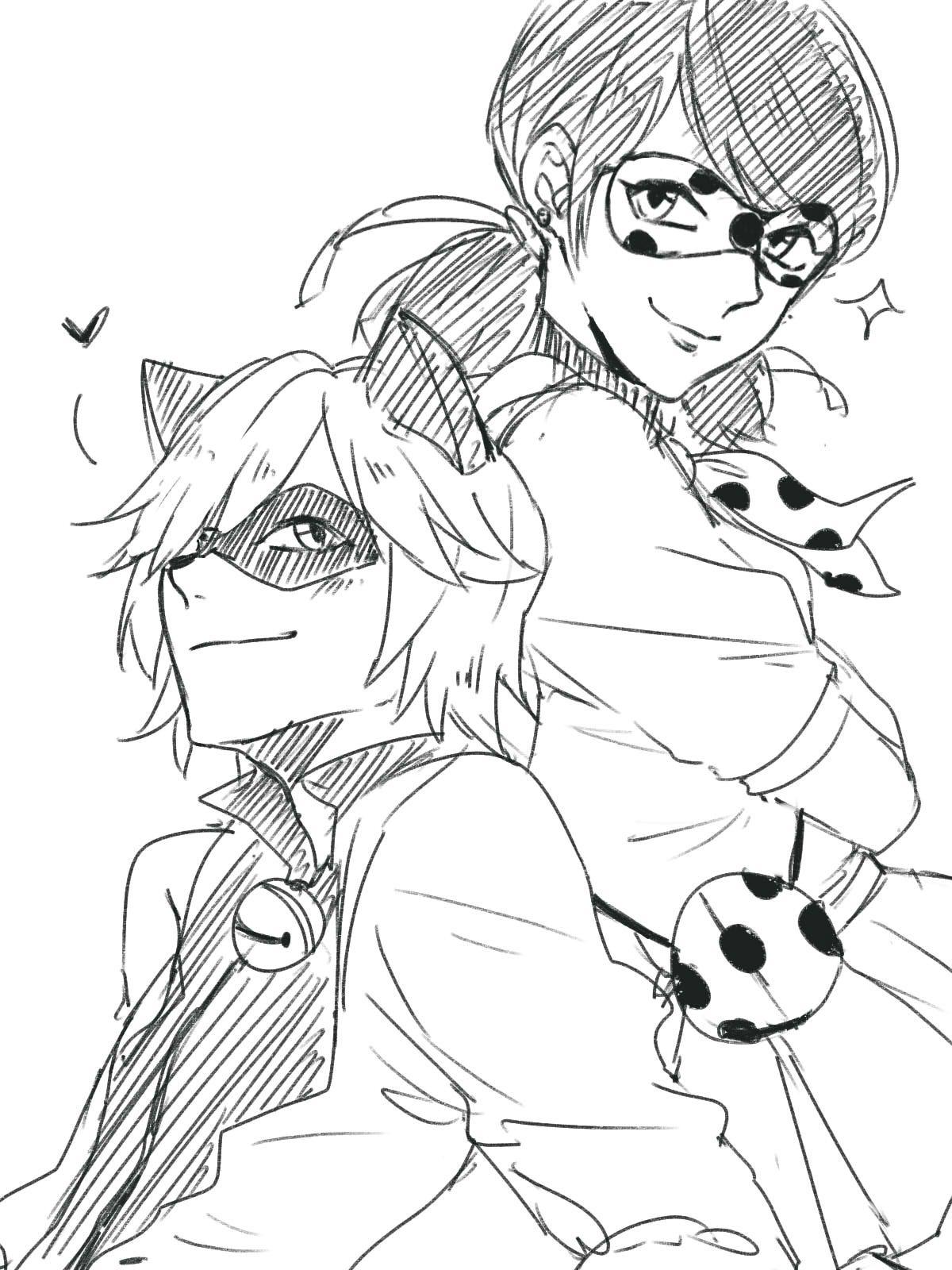 Imagenes De Ladybug Anime Para Colorear