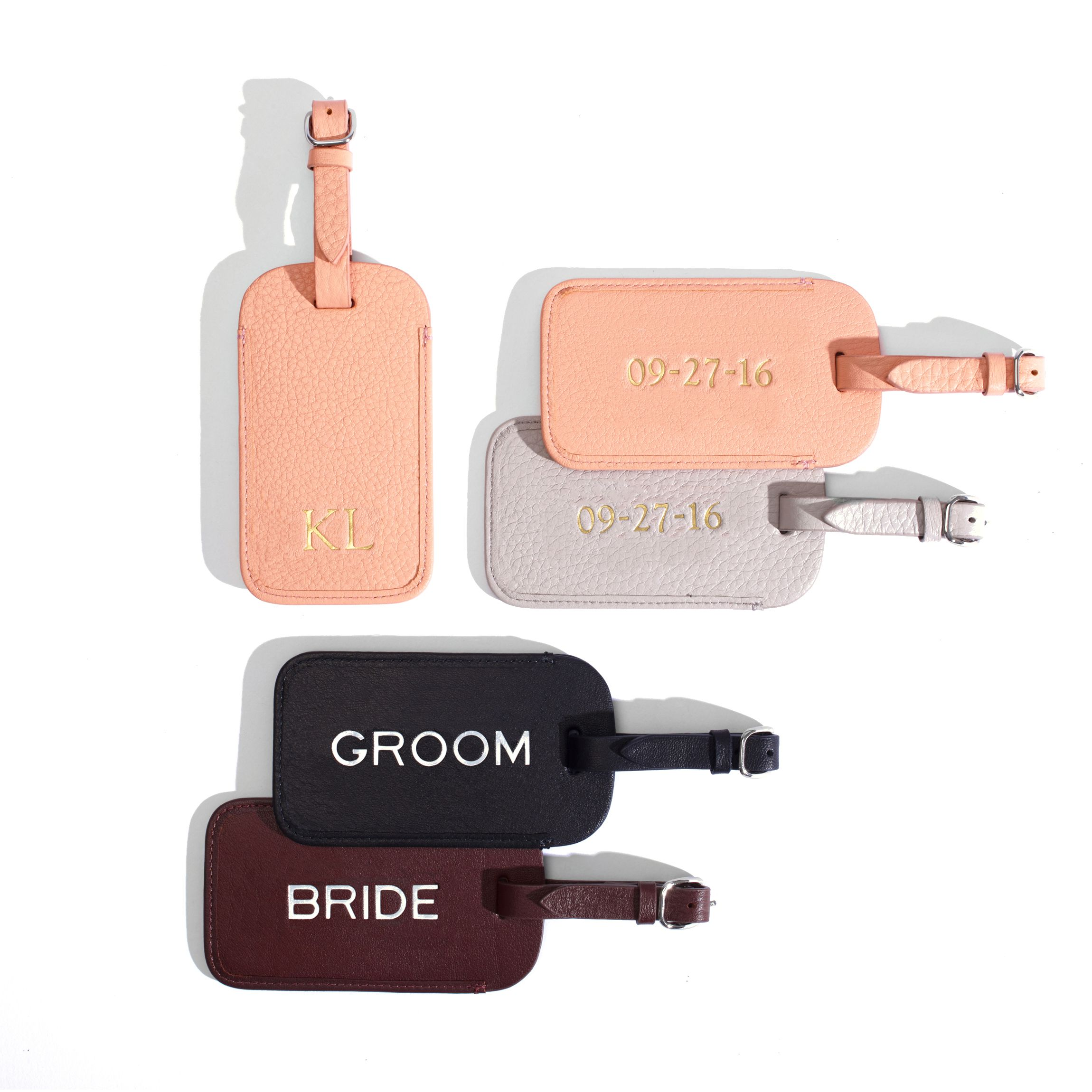 Standard Luggage Tag | Full Grain Leather Black Onyx | Favors ...