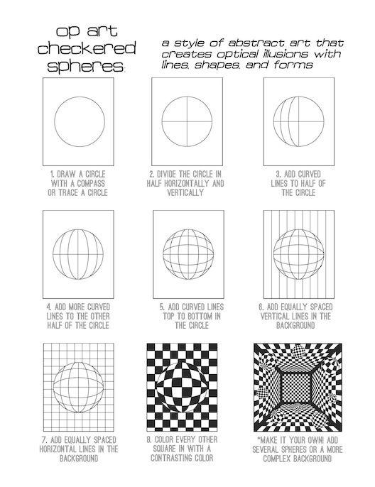 image result for op art cube template schule geometrisches zeichnen kunst ideen und. Black Bedroom Furniture Sets. Home Design Ideas