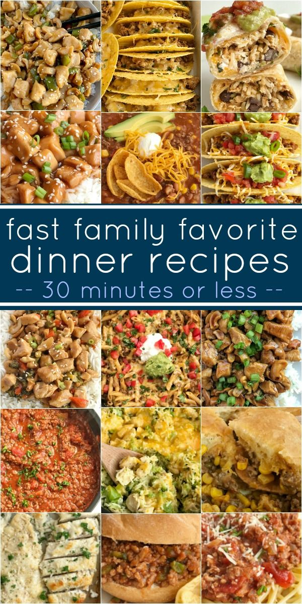Fast Dinner Recipes {30 minutes or less} | Together as Family