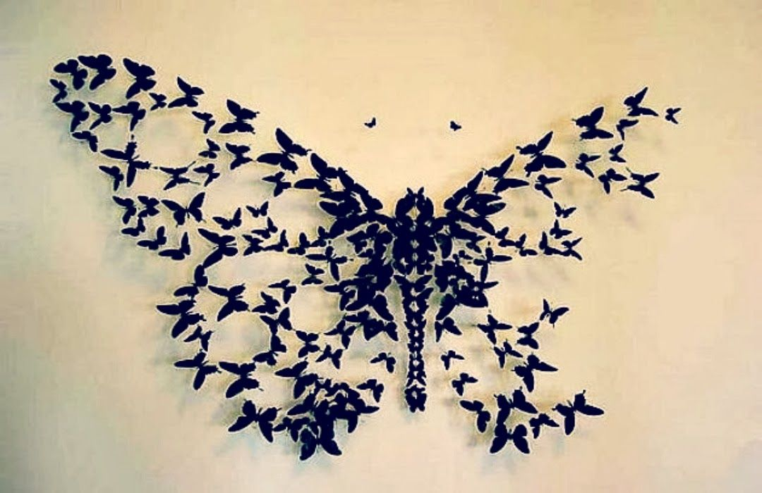DIY: Butterfly Wall Decor | A P A R T M E N T / L O F T | Pinterest ...