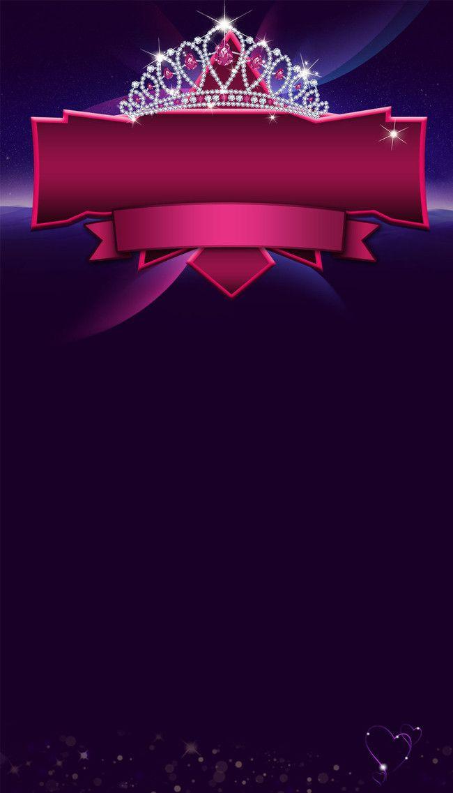 Purple Grades Crown Poster Background