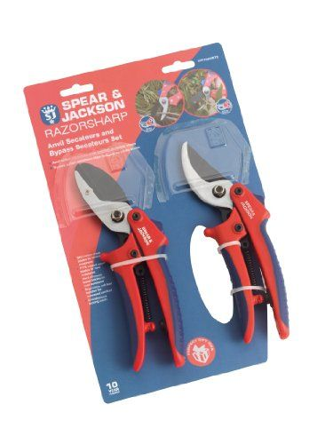 Spear Jackson Cuttingset2 Razorsharp Bypass And Anvil Secateurs Set For More Information Visit Image L Spear And Jackson Garden Tool Set Jackson