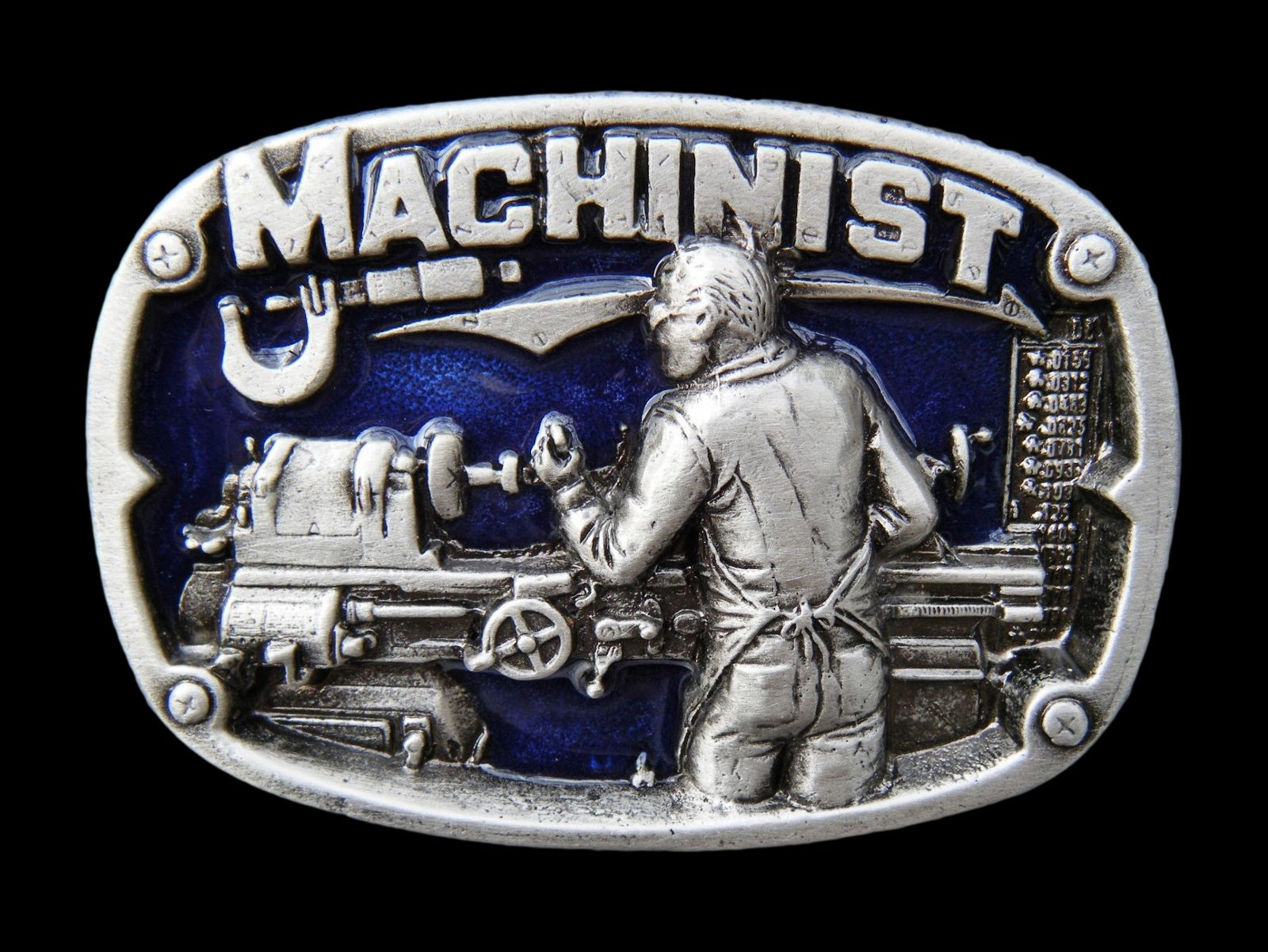 MACHINIST MACHINE OPERATOR TOOLS BELT BELTS BUCKLE BUCKLES
