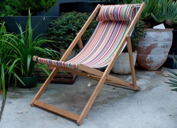 French Canvas Deck Chair Garden Life Deck Chair Canvas