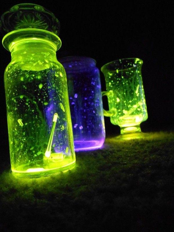 licht im garten-neon leuchtende-einweckgläser ideen selbermachen, Best garten ideen