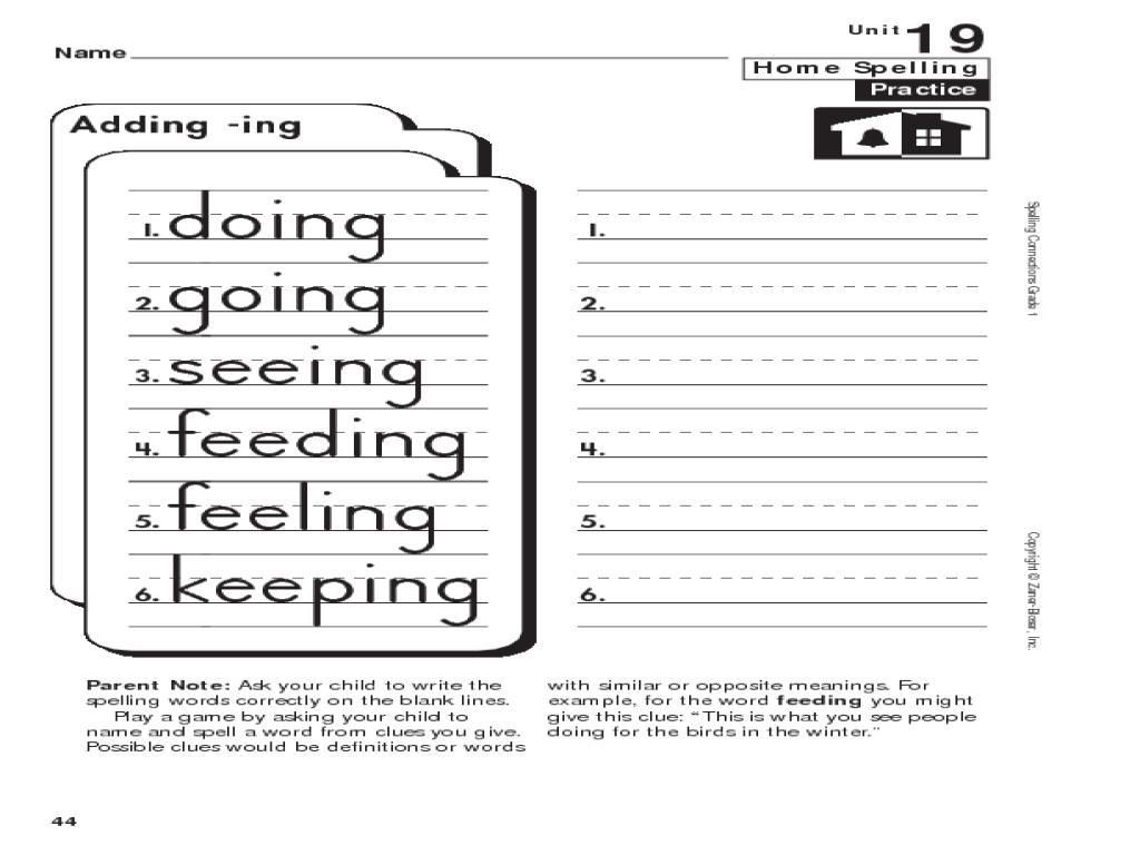 8 Spelling Practice Worksheets 2nd Grade Di