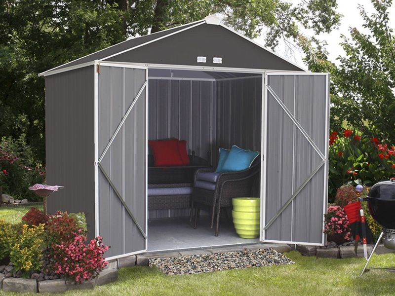 Winterizing Your Patio How To Protect Patio Furniture From Rain Snow Hayneedle Metal Shed Shed Steel Sheds