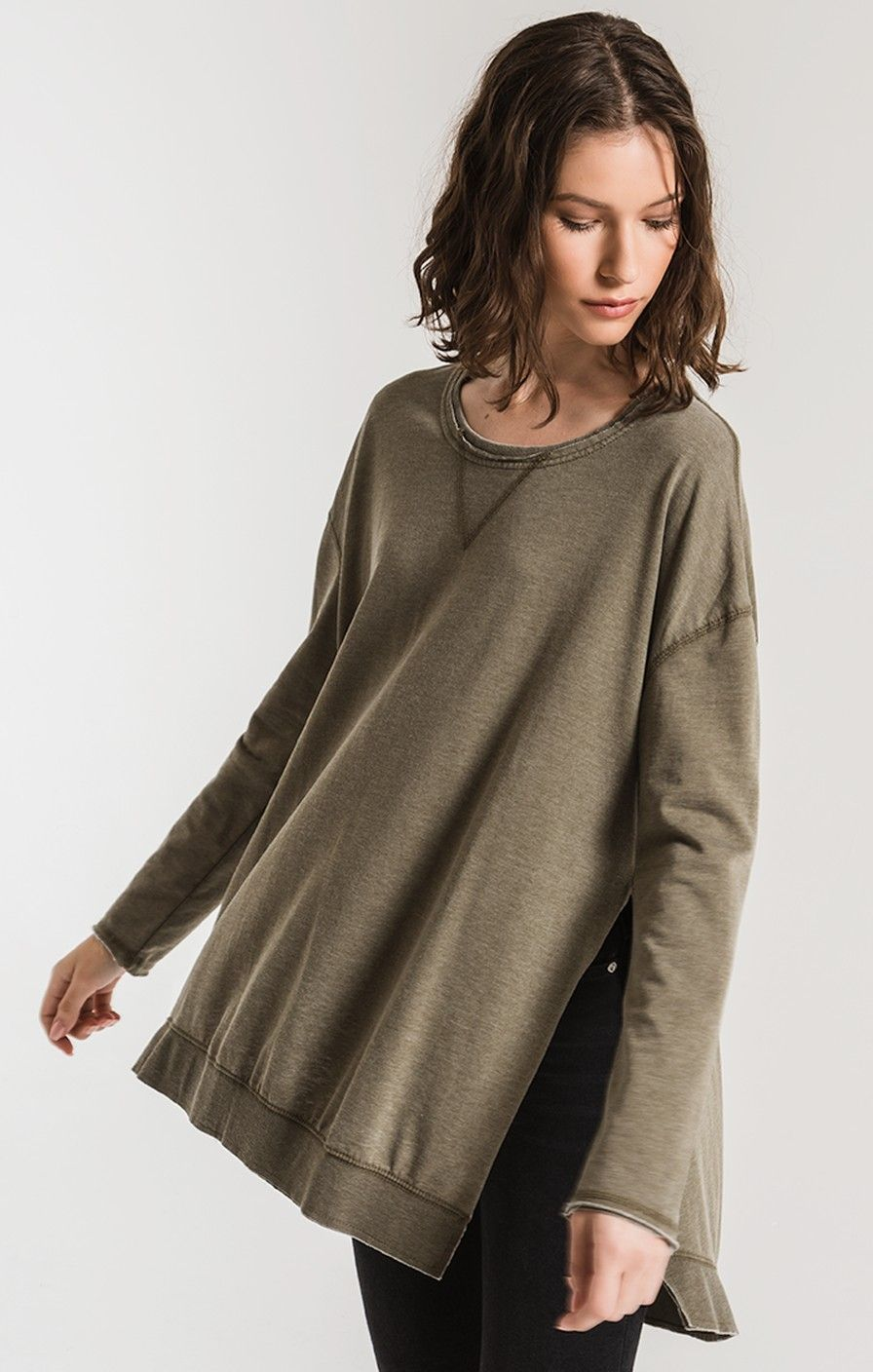 The Weekender Pullover Sweater Z Supply Clothes Pullover Sweaters Oversized Top