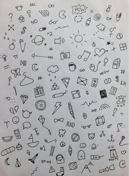 Doodles Grunge Tumblr Doodle Tattoo Stick N Poke Tattoo Simple Doodles