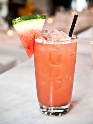 Bootie Call: tequila, jalapeno, lime juice, agave nectar, watermelon