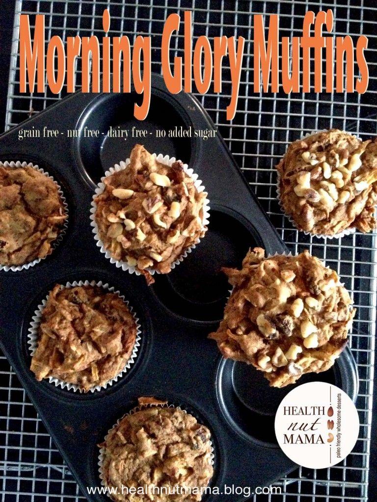 Plantain Morning Glory Muffins Grainfree Nutfree Noaddedsugar