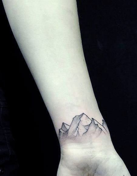 mountain-top-men-wrist-tattoo.jpg (451×581) | Wrist tattoos for ...