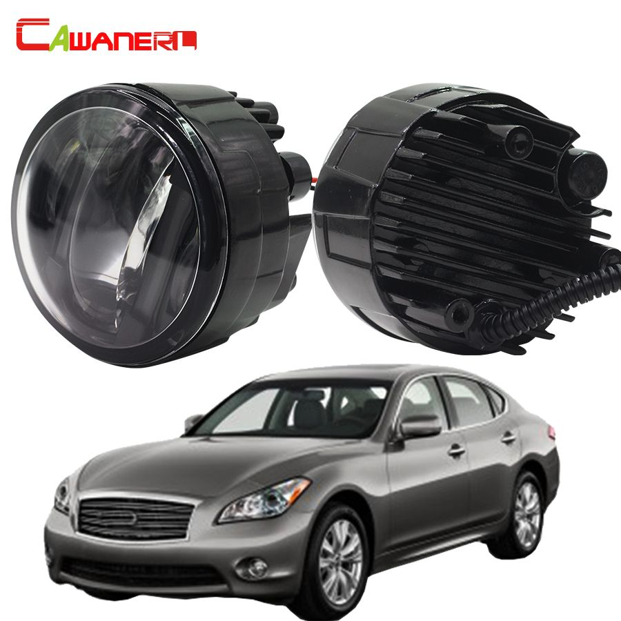 Cawanerl 1 Pair Automotive LED Left + Right Fog Light DRL