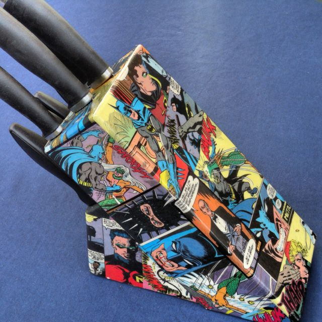 Fan Of The Dark Knight Then Put This Lovely Batman Knife Block In Rhpinterest: Batman Kitchen At Home Improvement Advice