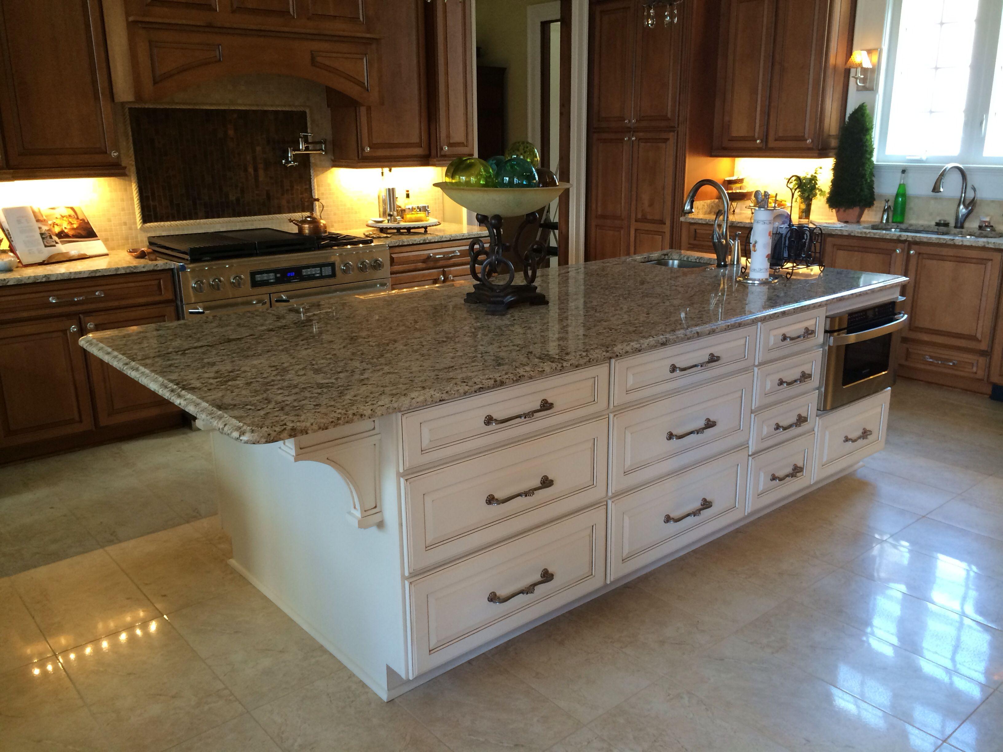 Kitchen Design Granite Magnificent Kitchen Island With Builtin Drawer Microwavegranite Tops Inspiration