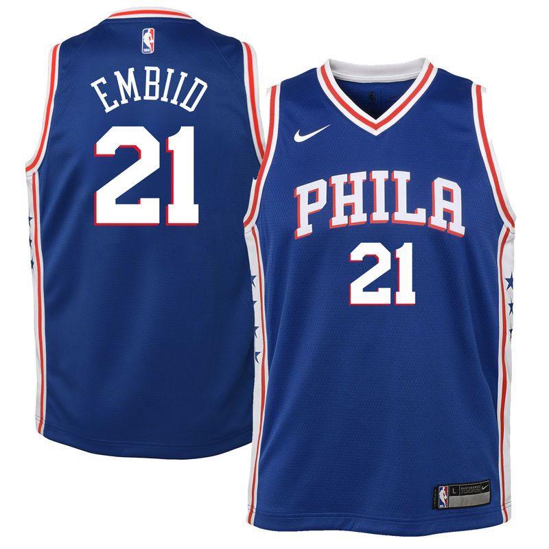 Joel Embiid Philadelphia 76ers Nike Youth Swingman Jersey Blue - Icon  Edition ebbd9ec1a