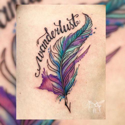 39 Pretty Watercolor Tattoo Ideas That Ll Convert Even The: #travel #tattoo #wanderlust #inspiration