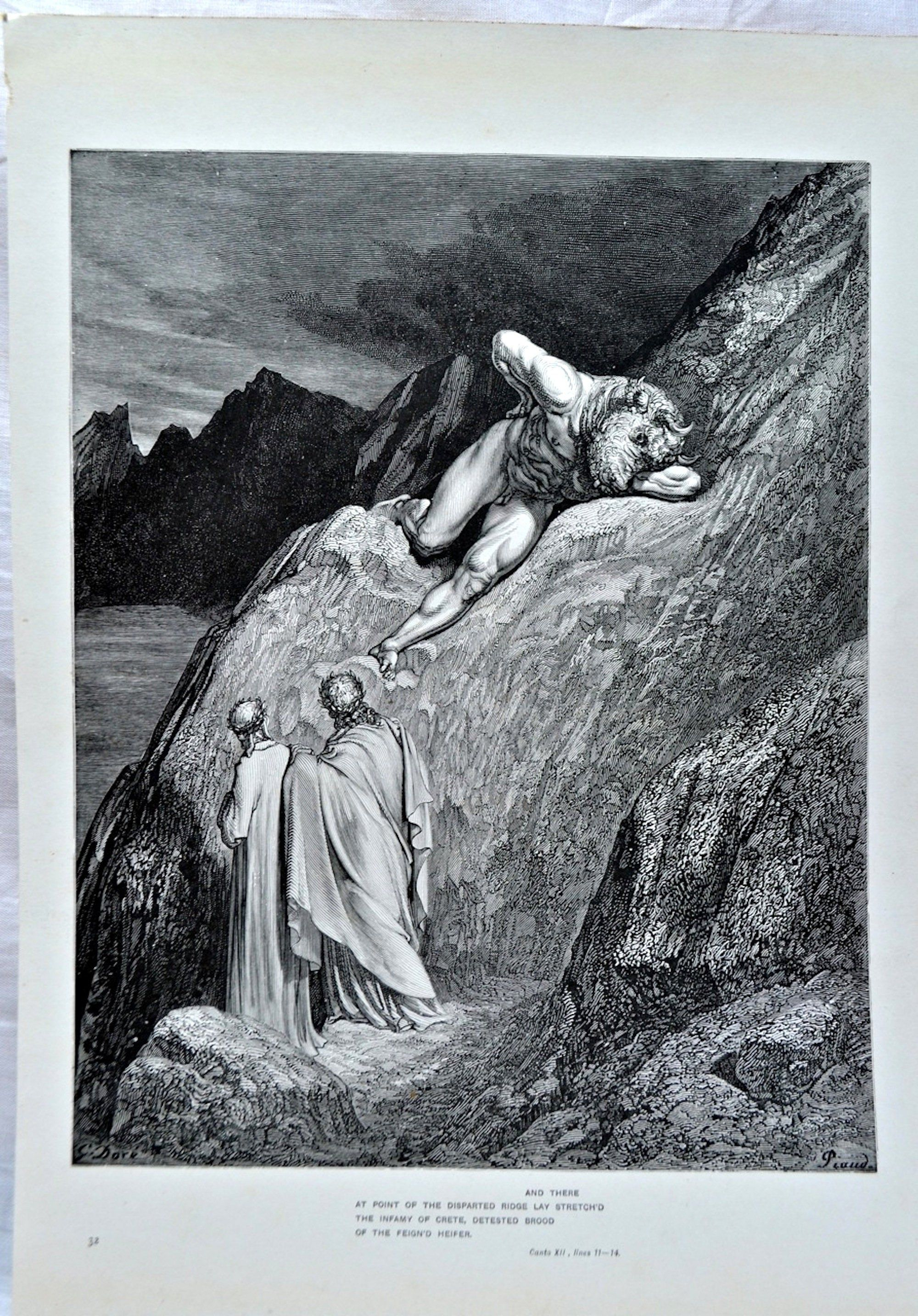 Gustave dore antique engraving 1903 from book illustration