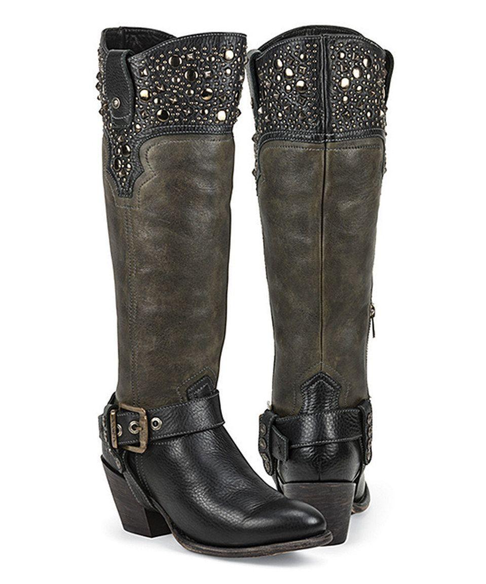 Love this Black Star Black Regulus Leather Western Boot by Black Star on #zulily! #zulilyfinds
