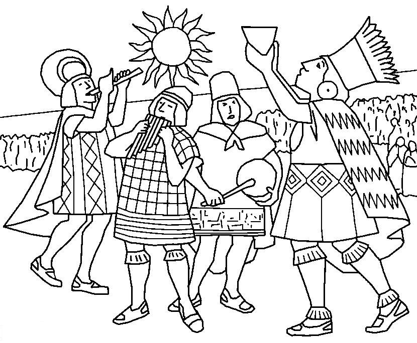 Inca Empire coloring page 3 Wallpaper