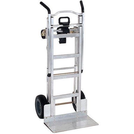 Cosco 3-in-1 Aluminum Hand Truck/Assisted Hand Truck/Cart with Flat-Free Wheels - Walmart.com
