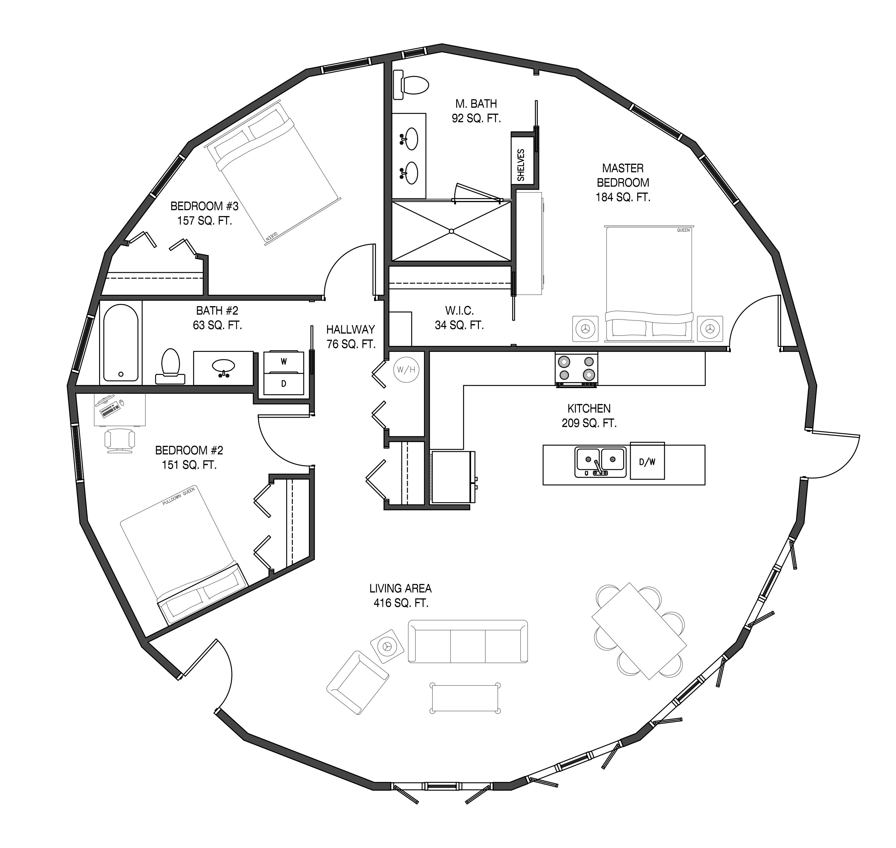 Floorplan Example Sqft In