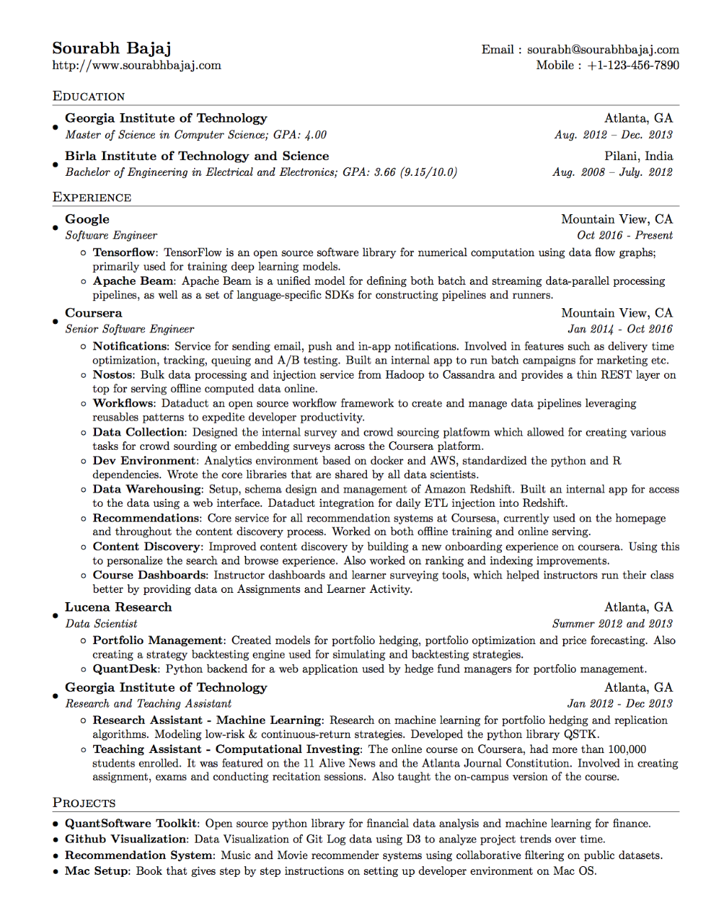 How To Build A Data Science Portfolio Data Science Data Scientist Resume Examples