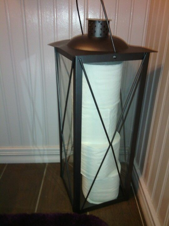 Using My Lantern For Extra Toilet Paper Storage.