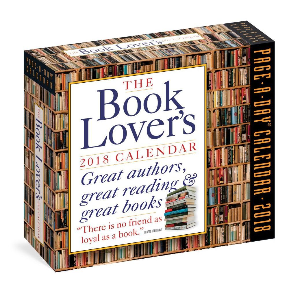 The Book Lovers 2018 Desk Calendar Gifts For Bookworms Book Lovers Writers Digest