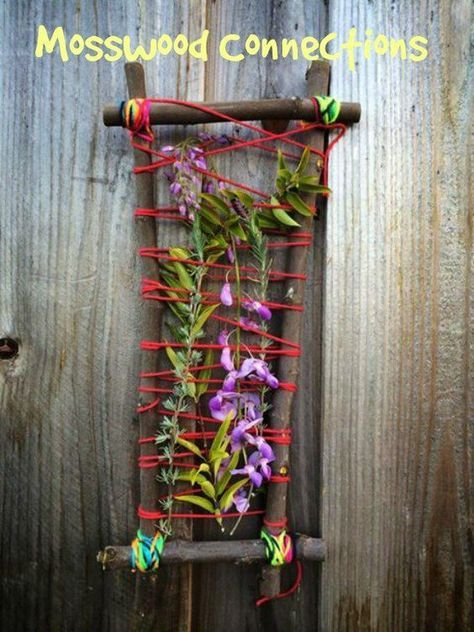 Nature Weaving Art Project is part of garden Art Projects For Kids - This Nature Weaving Art Project is the perfect activity for a relaxing day in the garden