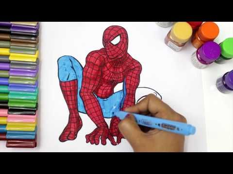Spiderman Coloring Pages For Kids How To Color Spiderman Coloring Books Youtube Spiderman Coloring Coloring Books Coloring For Kids