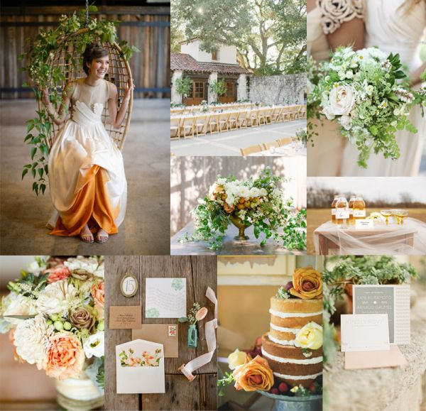 30 Inspirational Rustic Barn Wedding Ideas: Elegant + Rustic Amber Green Wedding Colors