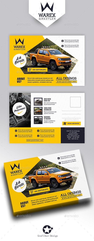 Automobile Introduction Postcard Templates | Cosas interesantes y ...