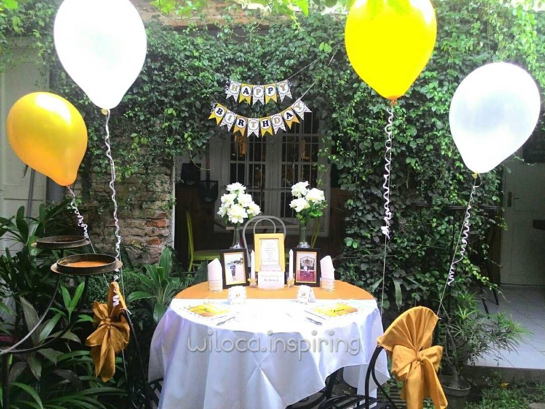 More Decoration httpwwwkadinikacom White and Gold theme table