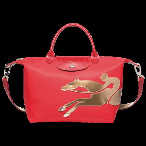 Sac porté main Année Du Cheval Sacs Longchamp Rouge