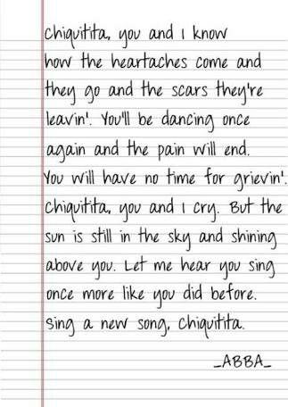Mi Chiquitita With Images Abba Lyrics Abba Chiquitita