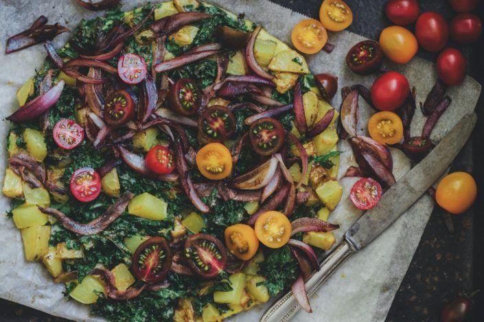 Frittata Z Jarmuzem Anchois I Cebula Balsamico Obiad Glutenfree