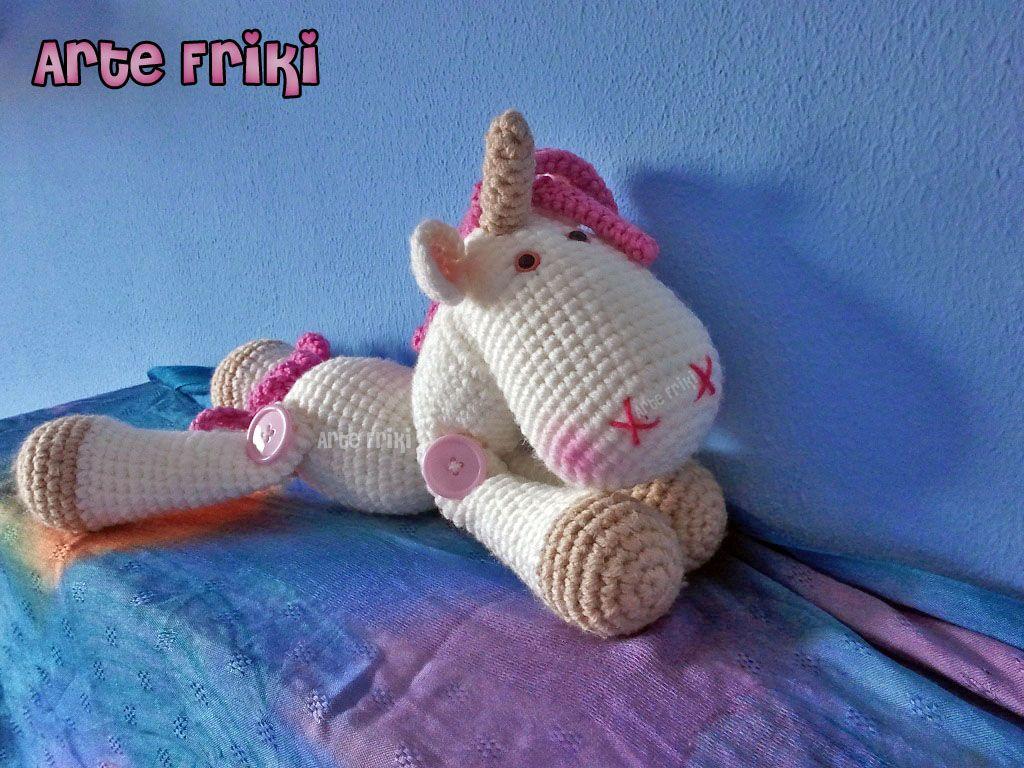 Amigurumi Unicornio Tutorial : Unicorn amigurumi unicornio ganchillo crochet amiguirrumis