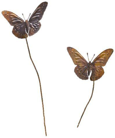 Ancient Graffiti Butterfly Duo Short Plant Garden Stake By Ancient Graffiti.  $12.00. Creates An