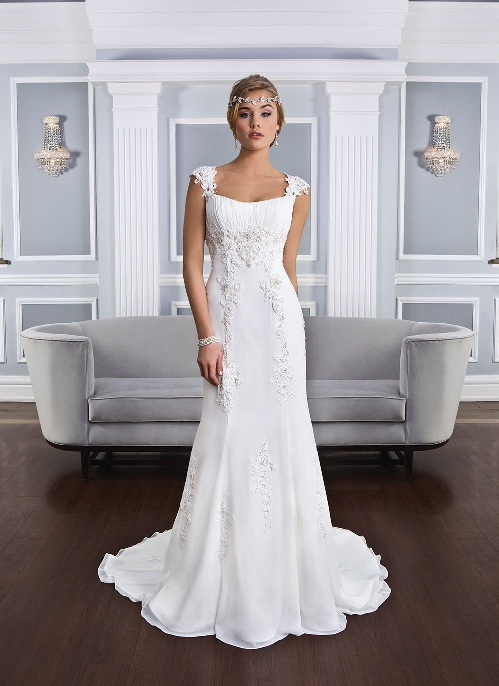 Lillian west lillian west style beaded venice lace over chiffon