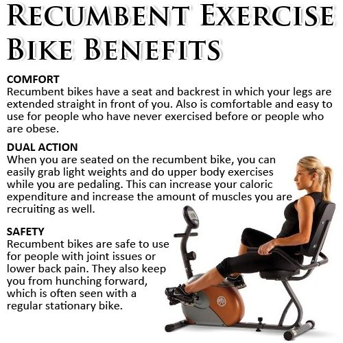 Recumbent Exercise Bike Benefits Stationary Bike Workout Biking