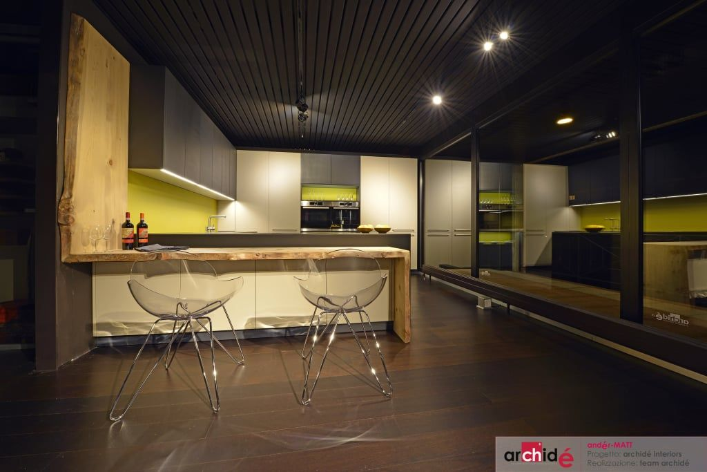 """The """"andér-matt"""" project (showroom 2015) cucina minimalista di archidé sa interior design minimalista"""