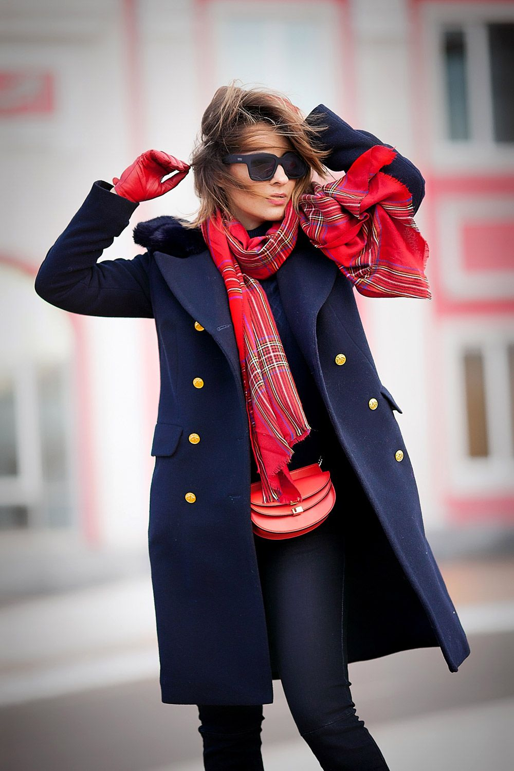 Photo of Navy Coat Outfit.