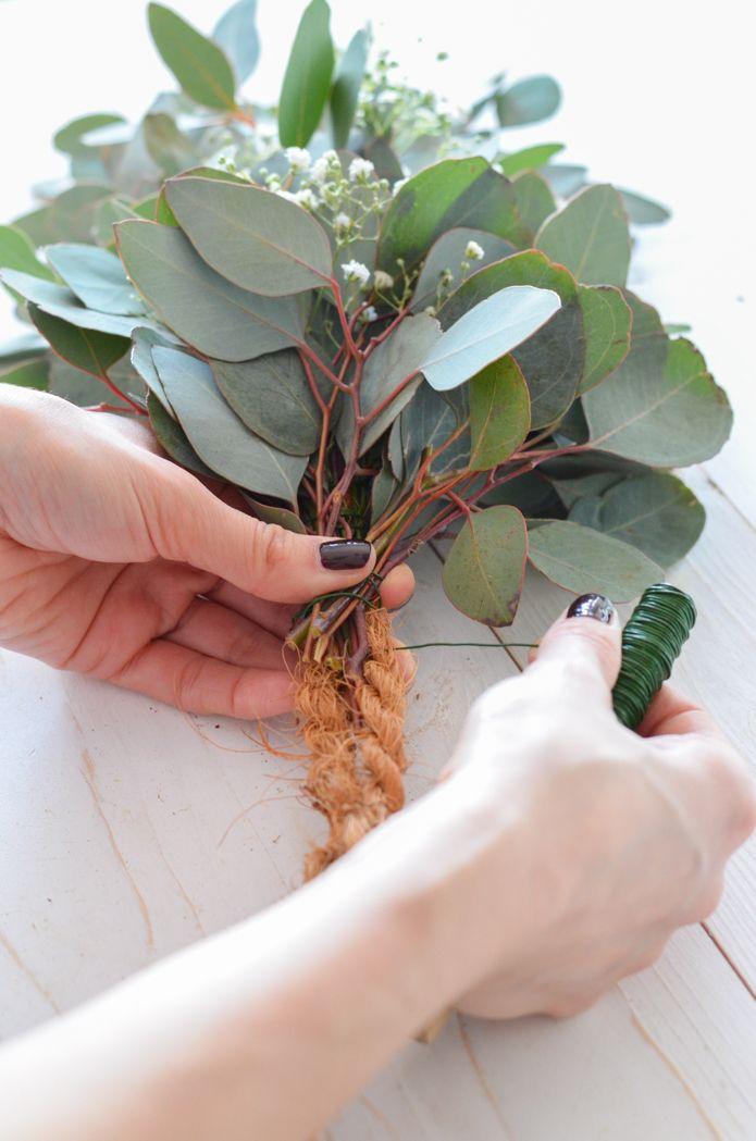 Eukalyptus Hochzeit Teil 2 Tischgirlande Selber Binden