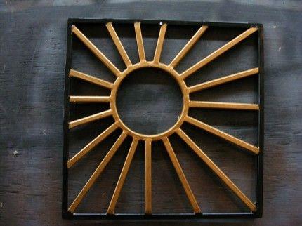 Sun Art Made 4 Fashion Framed Wrought Iron Wall