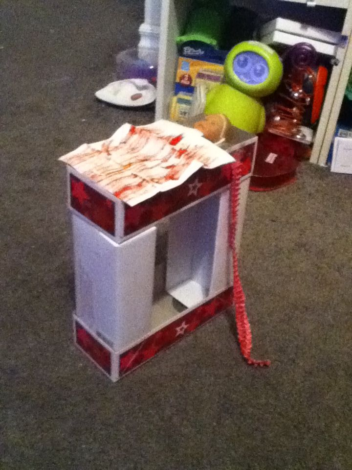 Homemade mini american girl doll bunk bed made by Jenna