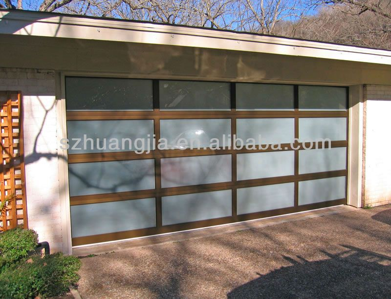 Anodized Aluminum Frame Glass Garage Door Prices Lowes Glass Garage Door Garage Doors Sectional Garage Doors