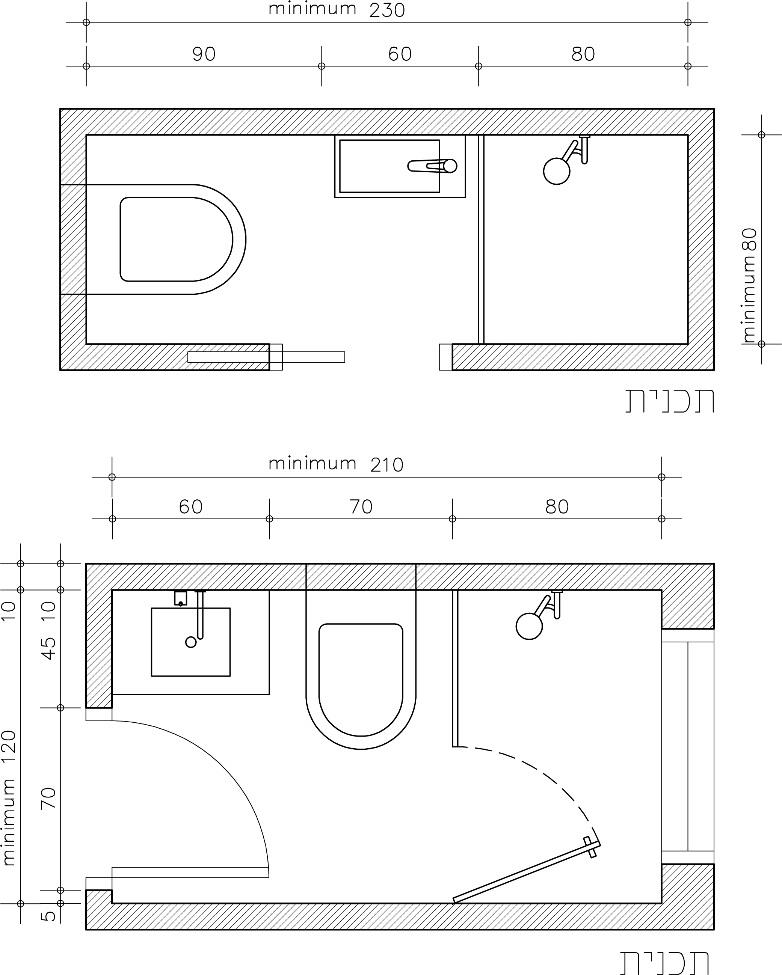 טיפים לתכנון חדרי אמבטיה ושירותים Master bathroom layout